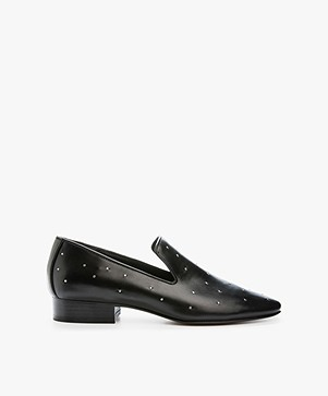 Rag & Bone Tate Leather Loafers - Black Studded