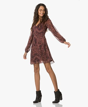 FWSS Siri Paisley Print Dress - Bordeaux