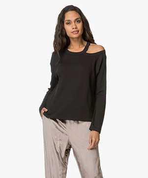 Rag & Bone Sky Cut-out Longsleeve - Zwart