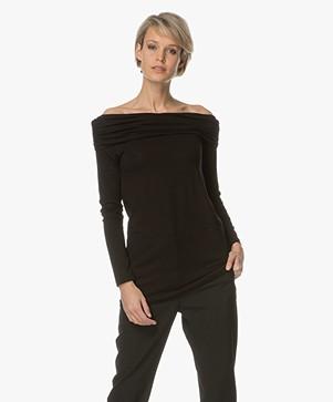 Baukjen Samantha Off-shoulder Long Sleeve - Black