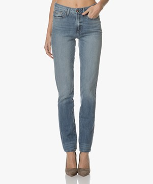 Denham Heidi Straight Jeans - Washed Light Blue