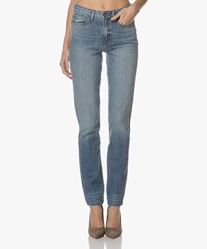 Denham Heidi Straight Jeans - Gewassen Lichtblauw