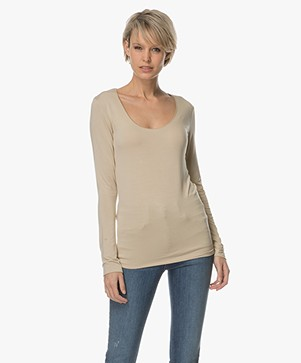 Majestic Long Sleeve with Round Neck - Dune