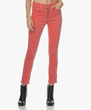 Rag & Bone / Jean Dojo Velvet Pants - Washed Red