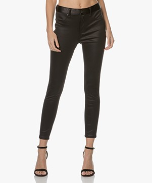 Rag & Bone High Rise Skinny Broek - Black Sateen