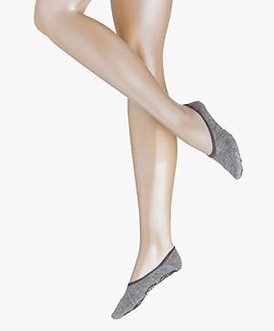 FALKE Cosy Ballerina Women No Show Sokken - Lichtgrijs Mêlee