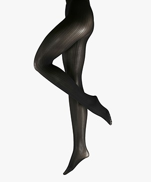 FALKE Rib 50 Denier Tights - Black