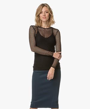 By Malene Birger Hadosa Lattice Lace Long Sleeve - Black