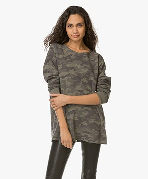 Drykorn Florrie Camouflage Print Sweater - Green