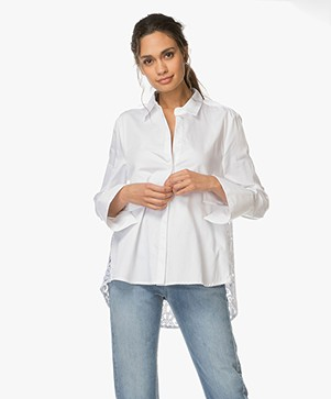 FWSS  Britt Blouse with Lace - Bright White
