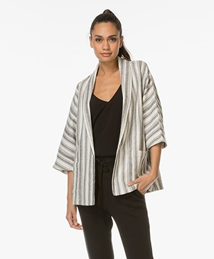 Vanessa Bruno Iles Wrap Jacket - Off-white/Black