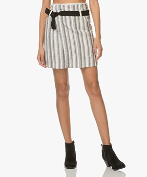 Vanessa Bruno Ilora Wrap Skirt - Off-white/Black