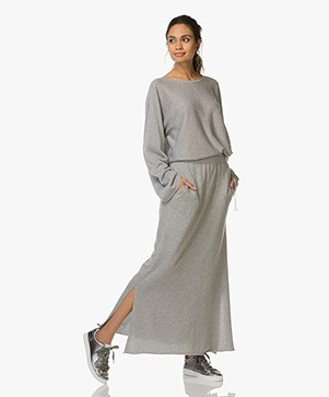 Drykorn Noni Pullover with Drawstring Sleeves - Grey Melange
