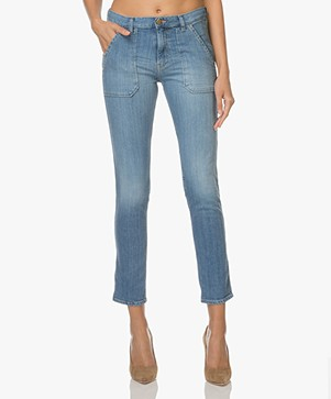 ba&sh Sally Girlfriend Jeans - Medium Used Blue