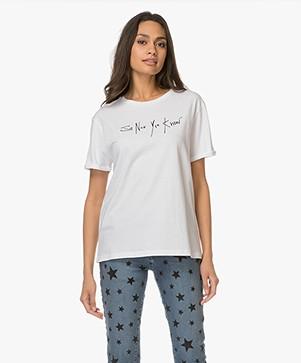 HUGO Dennada Geborduurd T-shirt - Wit