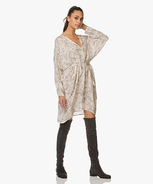 Matin Studio Long Cotton Shirt Dress White Stripe long