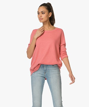 Repeat Pullover in Cashmere and Silk - Coral