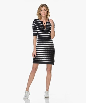 Josephine & Co Larisa Knit Dress - Stripe Navy
