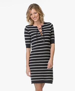 Josephine & Co Larisa Knit Dress - Stripe Navy