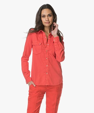 Ba&sh Cotton Popper-button Blouse - Grenadine