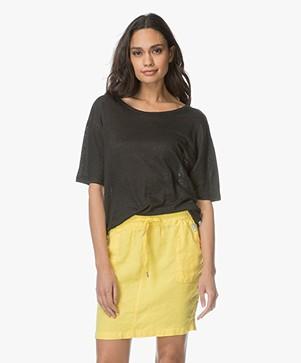 LEÏ 1984 Audrey Linen T-shirt - Black