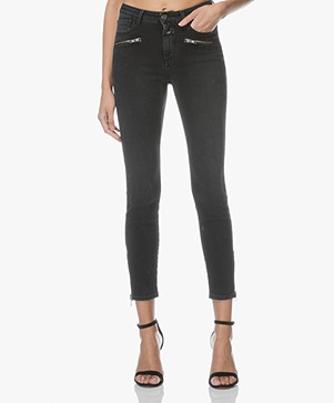 Closed Aimie Cropped Skinny Jeans - Washed Black