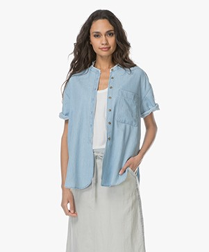 Closed Violet Denim Blouse - Bleached out