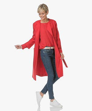 Filippa K Blair Belt Coat - Rouge