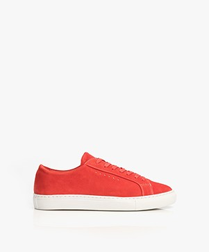 Filippa K Kate Seasonal Sneakers in Suede - Poppy