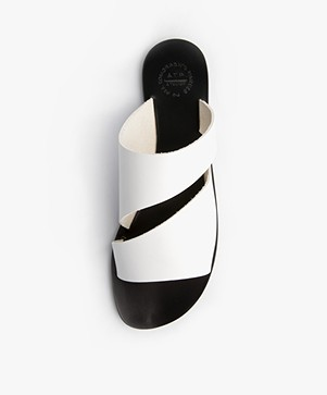 ATP Atelier Lis Leather Slipper Sandals - White