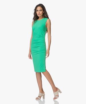 By Malene Birger Manian Pleated Crepe Jersey Dress - Green Garden