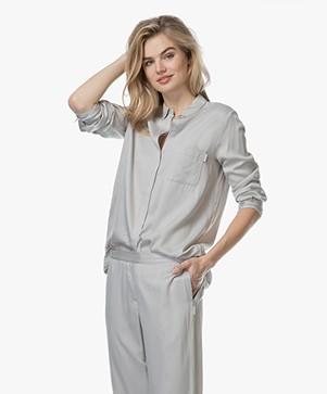 Calvin Klein Striped Pajama Blouse - Gaze