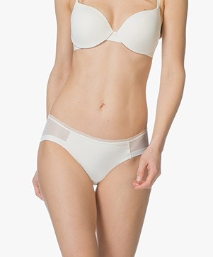 Calvin Klein Sculpted Mesh Briefs - Ivory