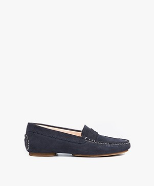 Fred de la Bretonière Suede Loafers - Dark Blue
