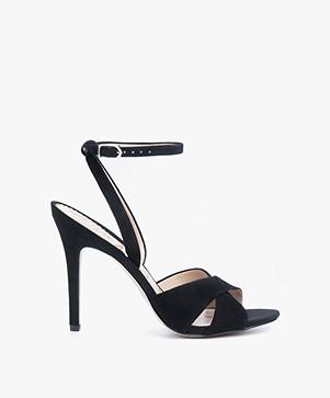 Sam Edelman Aly Ankle Strap Heels - Black