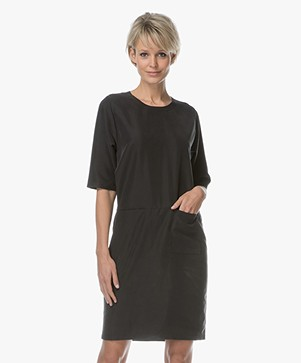 Woman by Earn Zoë Modal Blend Dress - Black