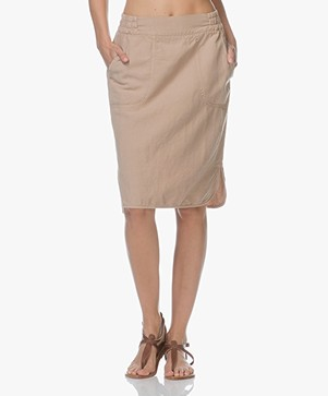 no man's land Linen Blend Skirt - Desert
