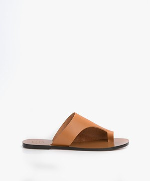 ATP Atelier Rosa Leather Slipper Sandals - Terra