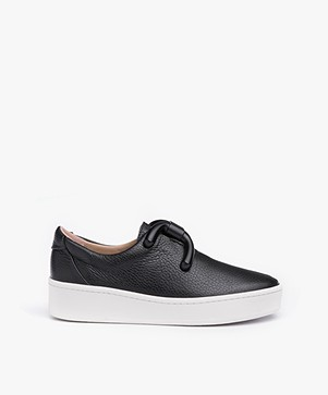 An Hour And A Shower Knot Platform Slip-on Sneakers - Zwart