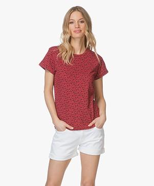 Ragdoll LA Vintage T-shirt met Print - Rood Luipaard
