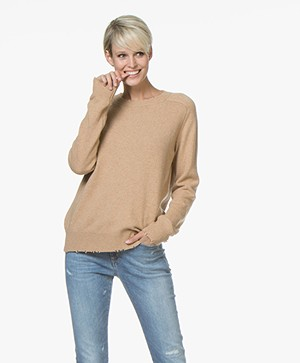 Drykorn Cady Distressed Sweater - Camel
