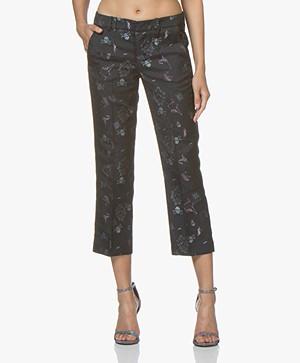 Zadig & Voltaire Posh Jacquard Cropped Pantalon - Marine
