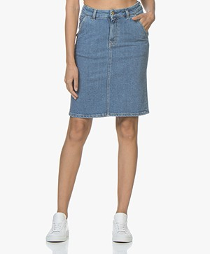 Filippa K FK JEANS Alicia Washed Denim Rok - Mid Blue