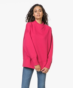 Denham Troop French Terry Sweater - Red Sizzle