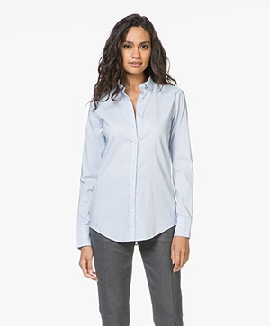 Closed Annie Cotton Stretch Blouse - Pearl