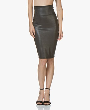 SPANX® Faux Leather Kokerrok - Very Black