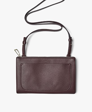 Filippa K Carol Leather Mini Bag - Bordeaux