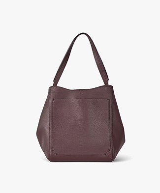 Filippa K Shelby Bucket Leather Bag - Bordeaux
