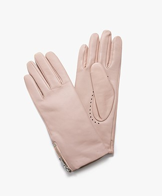 Filippa K Zip Leather Gloves - Tearose