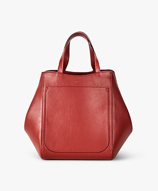Filippa K Shelby Mini Bucket Leather Bag - Brick